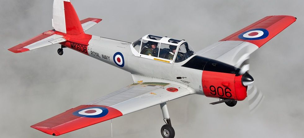 Historic Flight Royal Navy de Havilland Chipmunk trainer Wk608 © Lee Howard