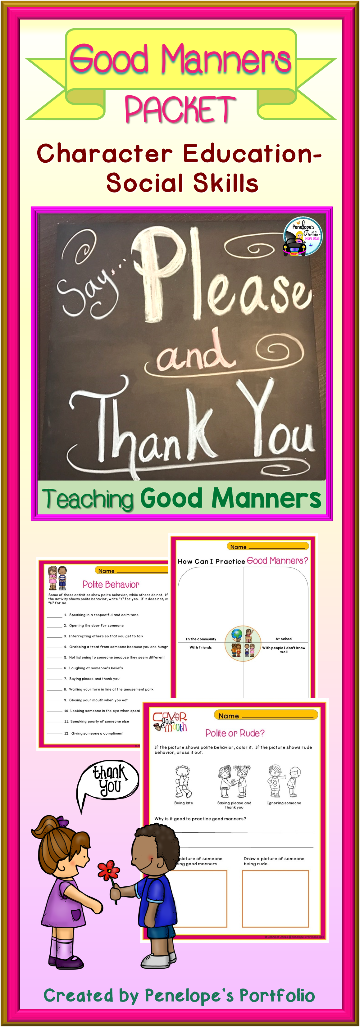 Good Manners Activities And Lessons