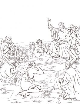 Jesus Sermon On The Mount With Images Christian Coloring