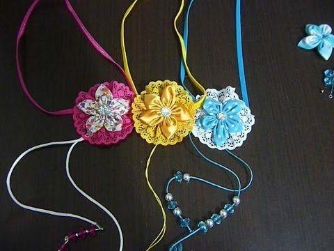 lindas tiaras elaboradas en elastico delgado y decoradas facilmente