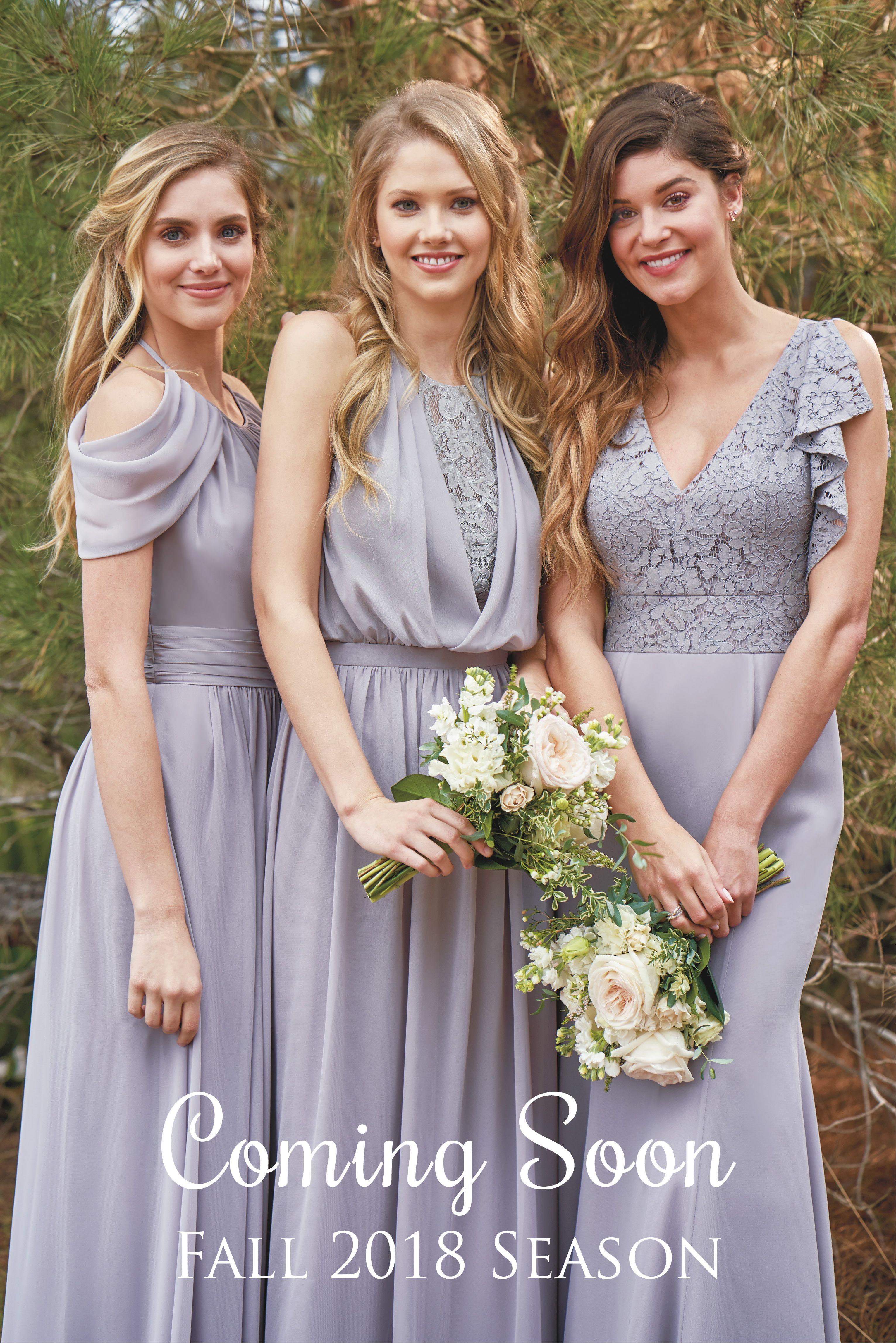 Jasmine Bridal B2 Fall 2018 Bridesmaid Line Simple Dresses Designer Mix And Match Bridesmaids Comingsoon Sneakpeak