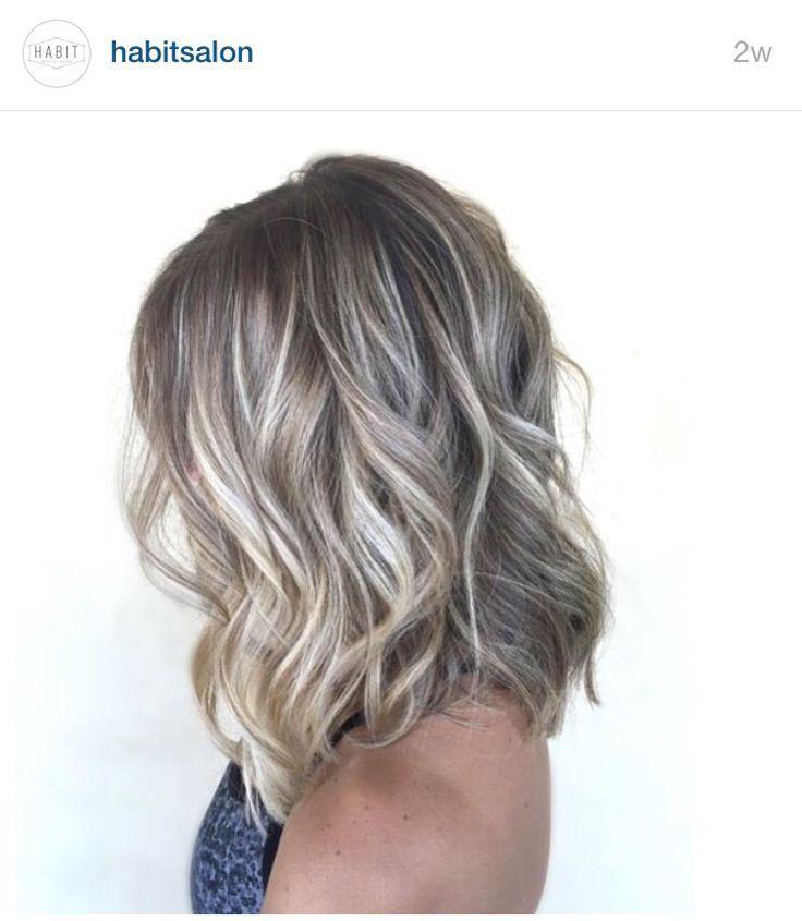 Shoulder Length Ash Blonde Balayage Short Hair
