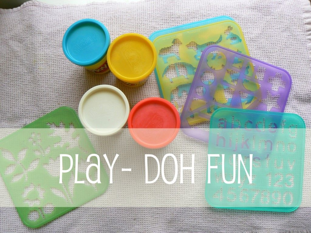 play dough and stencils
