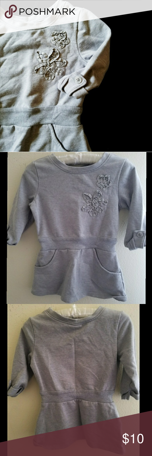 GRAY TUNIC SWEATER TOP 12-18 M Cute sweater tunic top. Excellent ...