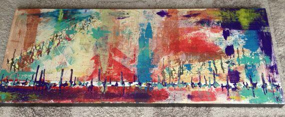 'Dansen' 125x50  Acryl op Board