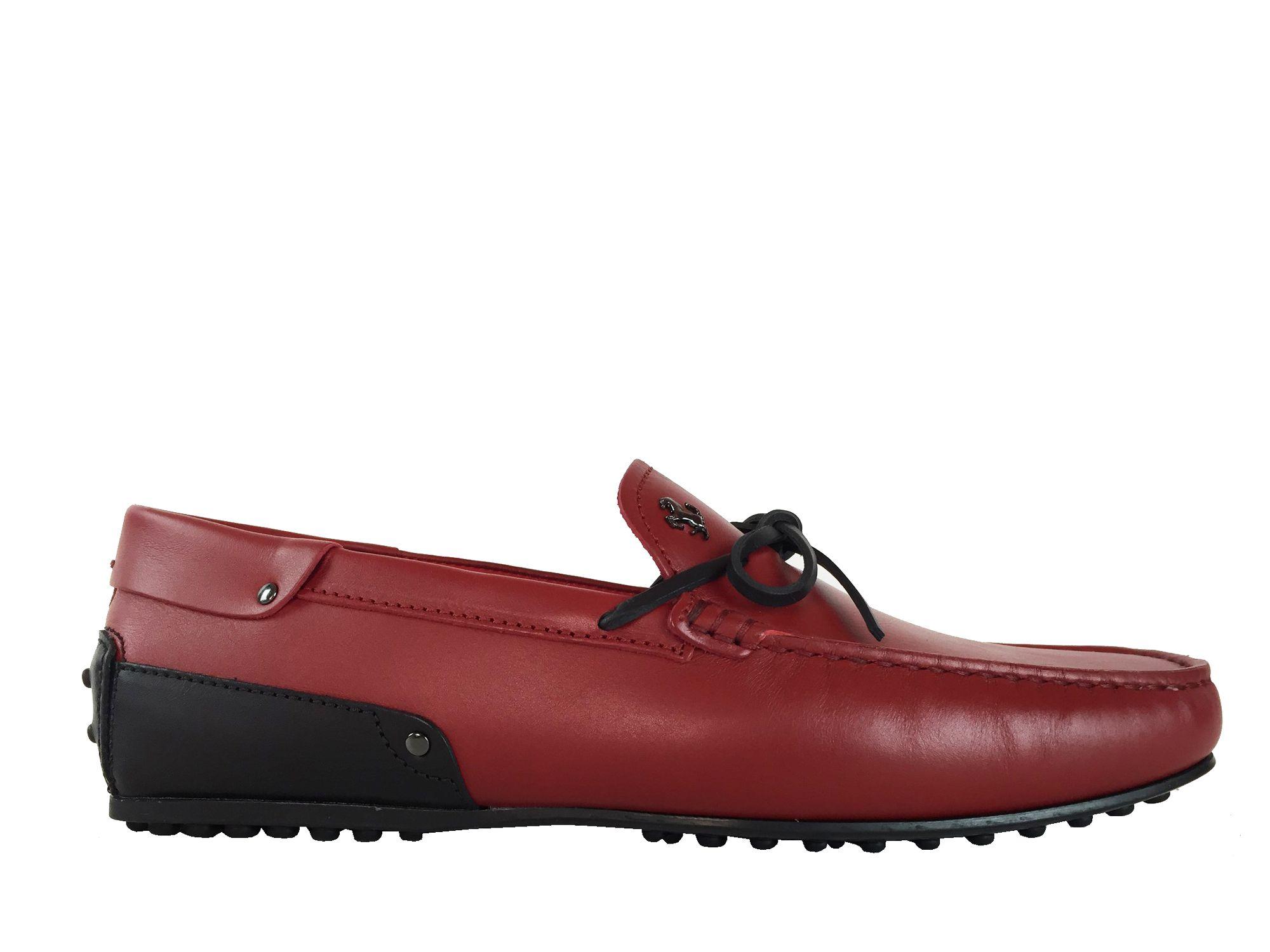 Mocassins Tod s - Babylone Ferrari en cuir rouge   Tod s Homme PE 17 ... efb3676dbafb