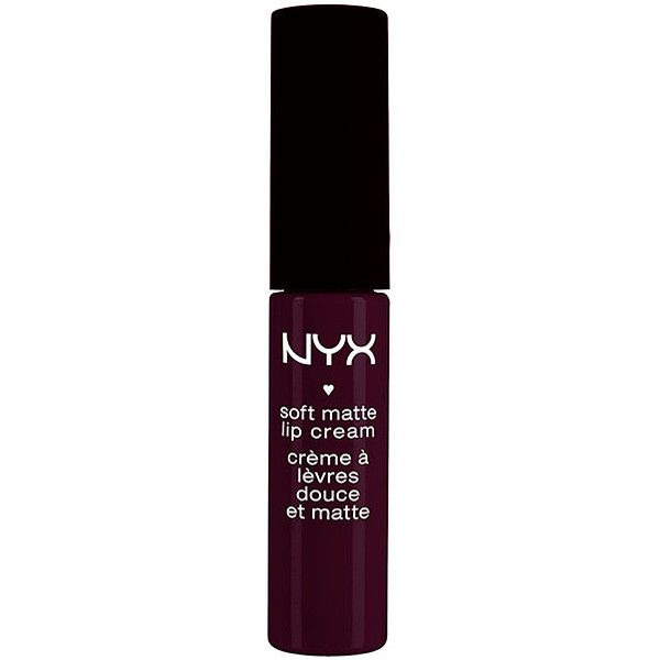 NYX Soft Matte Lipcream Lipstick (56 NOK) ❤ liked on Polyvore featuring beauty products, makeup, lip makeup, lipstick, lips, beauty, nyx, nyx lipstick and moisturizing lipstick