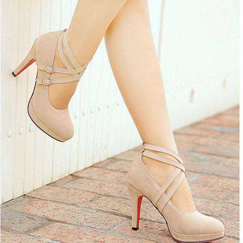 Alta qualidade sexy gladiador bombas 34 39 bracelete sapatos de salto alto em ladiesZ1LF 306 1 em Bombas das mulheres de Sapatos no AliExpress.com | Alibaba Group