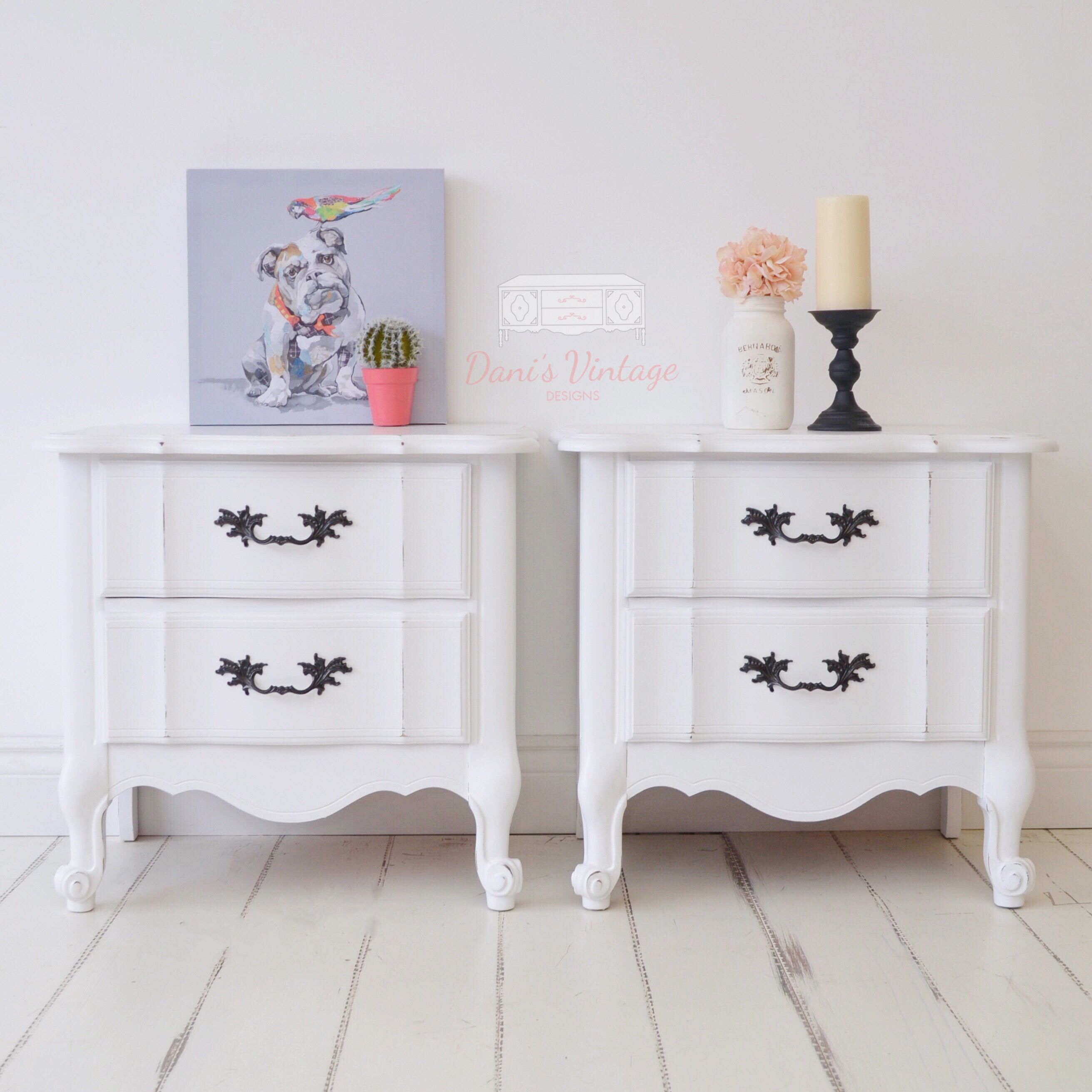 These Large French Provincial Shabby Chic Distressed White Night Stands Are Great For The Modern Cozy Living Room Bohemian Style Bedrooms Furniture Makeover