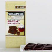 World Market Red Velvet Milk Chocolate Bar, Set of 2