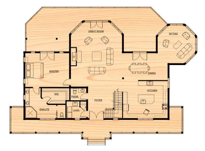 Citadel Ppk Log Home Floor Plan By True North Log Homes Log Home Floor Plans Floor Plans House Floor Plans