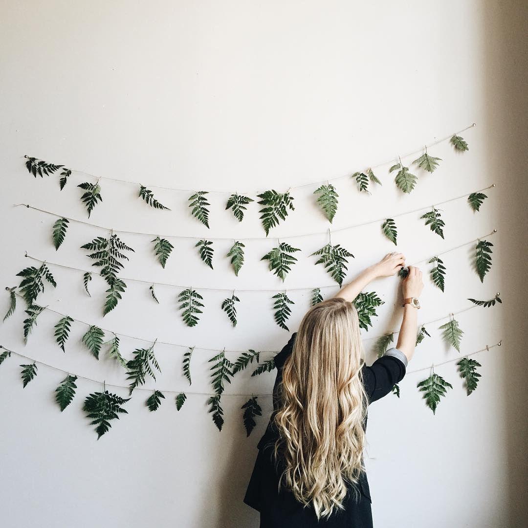 herfstdecoratie zelf maken val slaapkamer decor slinger varens ophangen huis ideen doe