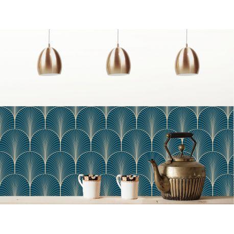 cr dence adh sive klimt bleu nuit en 2019 deco cuisine. Black Bedroom Furniture Sets. Home Design Ideas