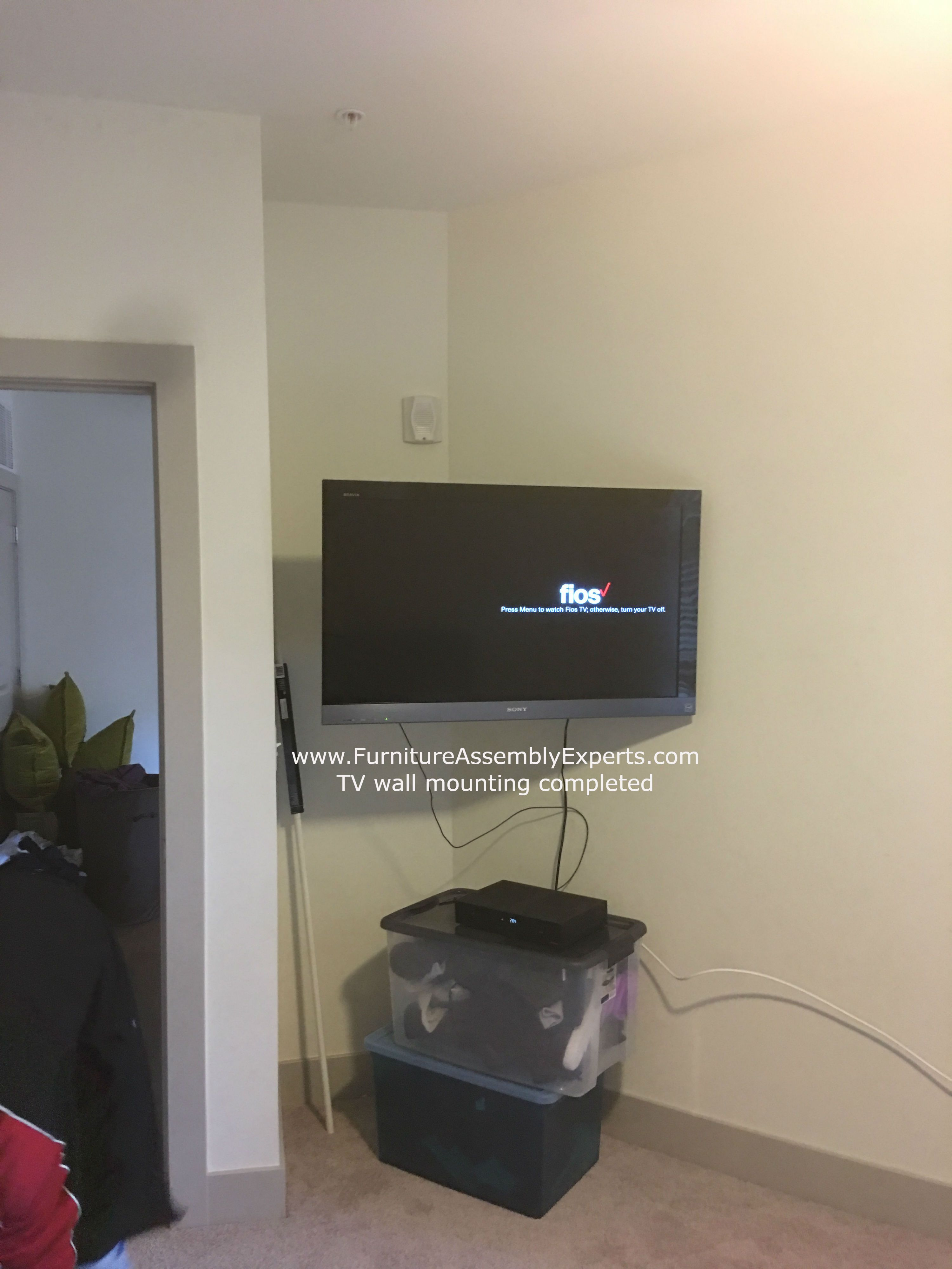 Tv Wall Installation Service Completed In Delaware By Furniture Assembly Experts Company We Service Washington Dc Tv Wall Tv Wall Installation Wall Mounted Tv