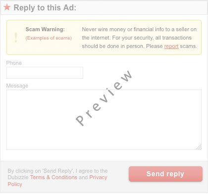 Reply to this ad Preview