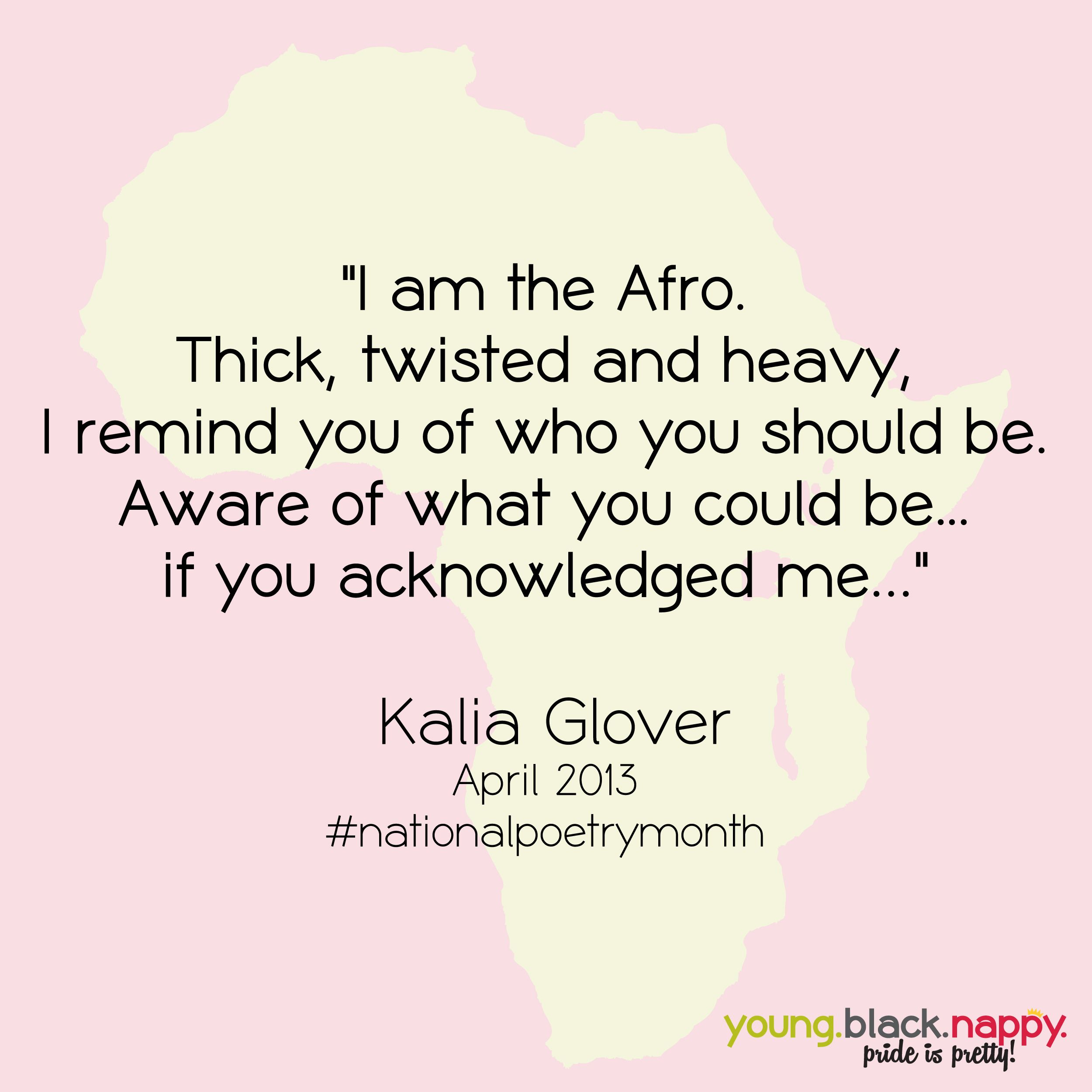 A poetic ode to the Afro in honor of National Poetry Month ...