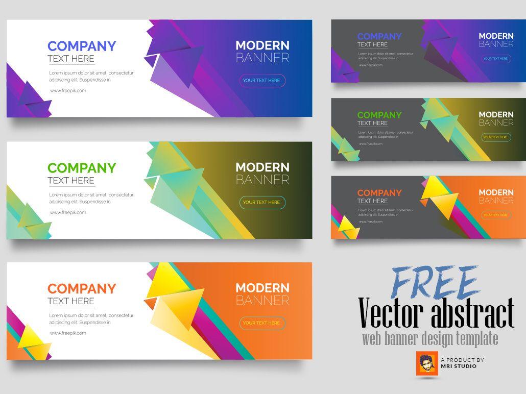 Free Vector Abstract Web Banner Design Templatemri With Regard To Free Website Banner Templates Down In 2020 Website Banner Design Banner Template Design Banner Design