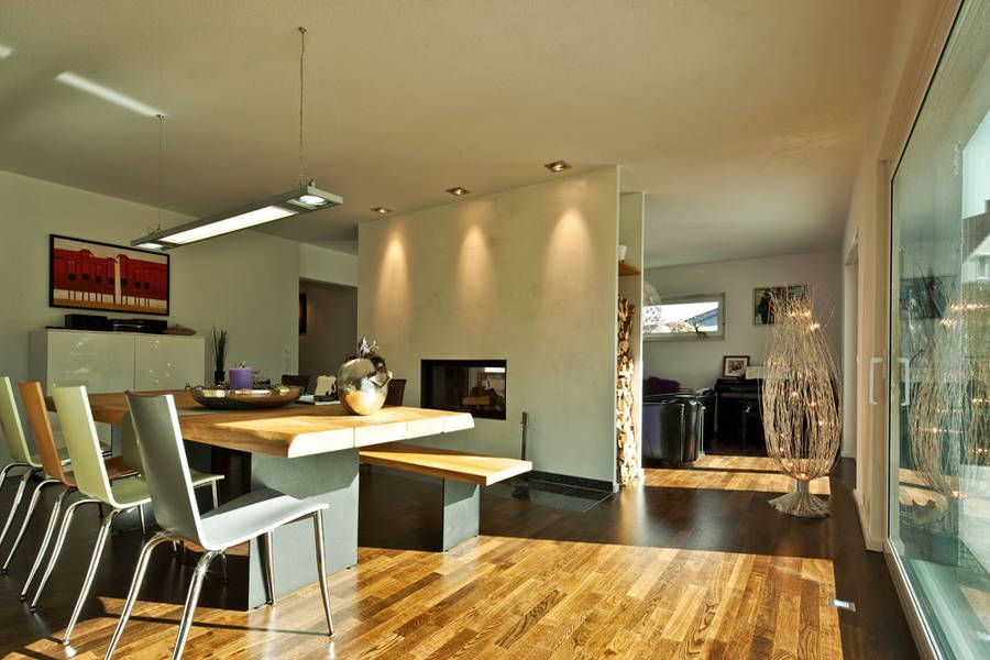 Wohnzimmer Und Esszimmer Mit Dem Kamin Trennen Ideen Rund Ums
