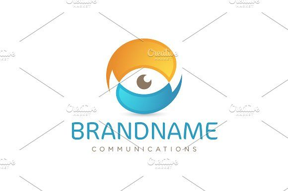 For sale. Only $29 - communication, eye, chat, speech, bubble, talk, vision, social, camera, share, sphere, sense, intersection, blue, orange, memorable, simple, creative, modern, abstract, information, technology, security, synergy, logo, design, template,