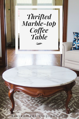 Draven Made | Found It! $15 Antique Marble Top Coffee Table!