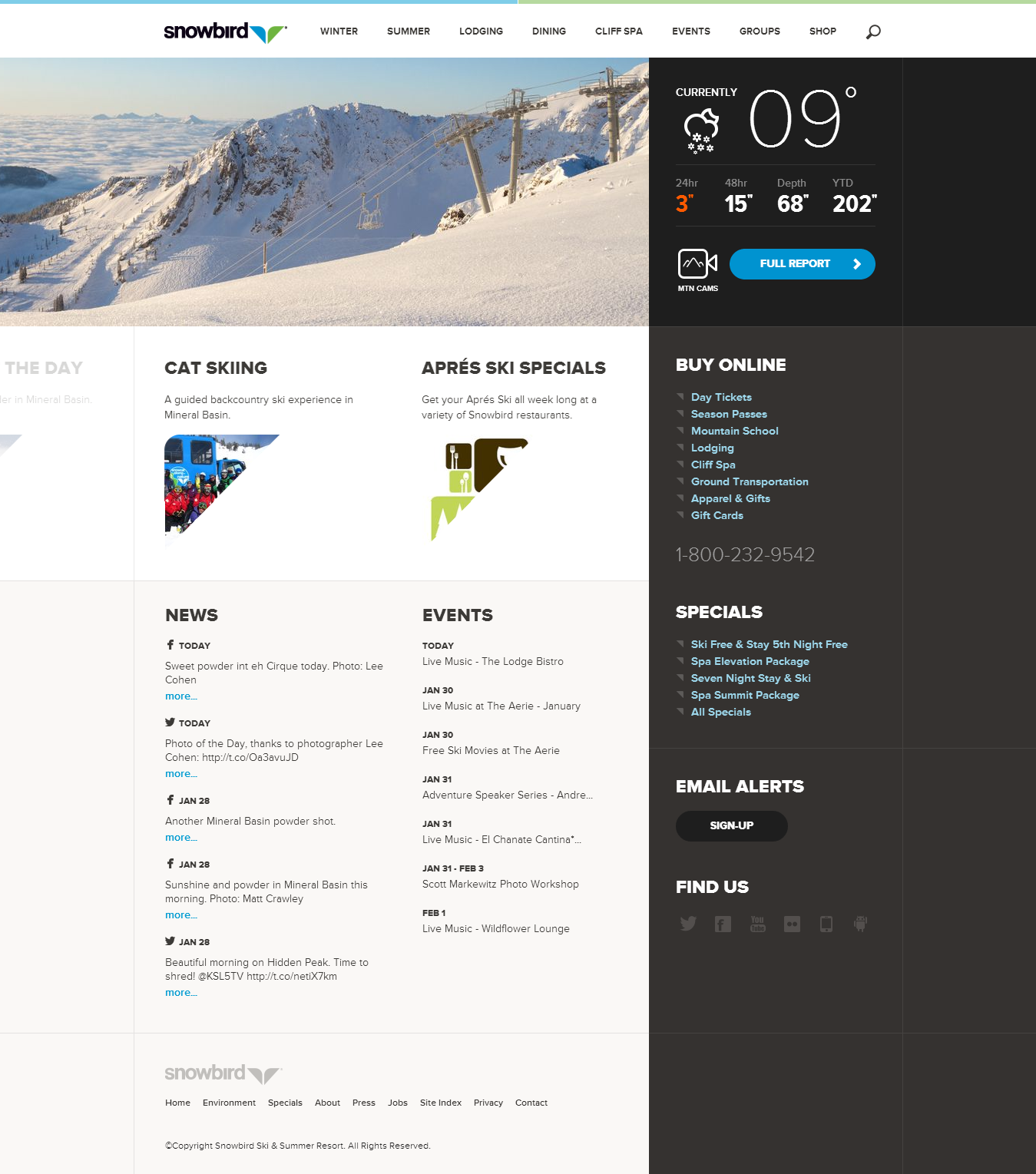 Snowbird Home Webpage Design Web Design Inspiration Web Design
