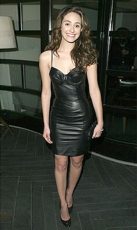 Emmy Rossum   Amazing Brunettes   Leather dresses, Leather, Dresses e065e8f46c