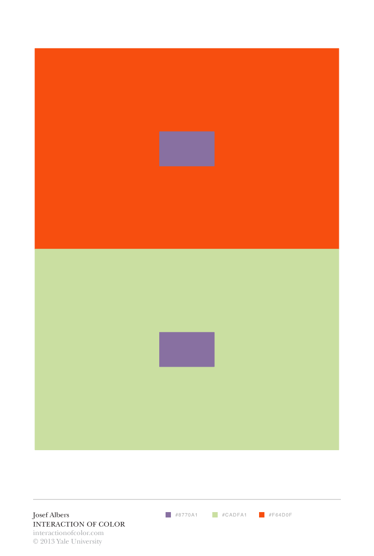 Color relativity josef albers interaction of for Josef albers color theory