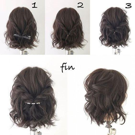 ¿Pelo corto? Sal de tu rutina con estos peinados con horquillas