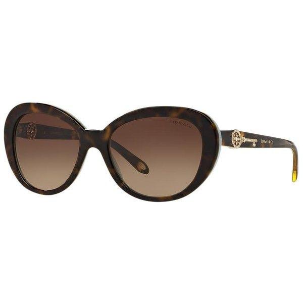 099ebd06858 Tiffany   Co. Tf4118b 55 Blue Oval Sunglasses ( 330) ❤ liked on ...