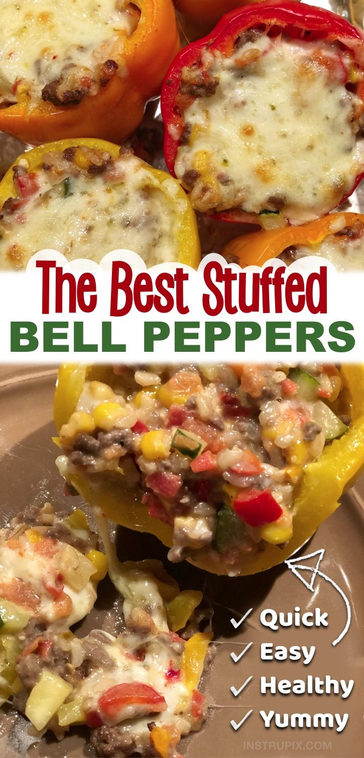 The Best Stuffed Bell Peppers Recipe In 2020 Stuffed Peppers Recipes Healthy Dinner Recipes Easy