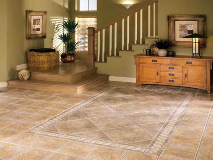 Marvelous Rustic With Marble Tile Flooring Ideas For Living Room