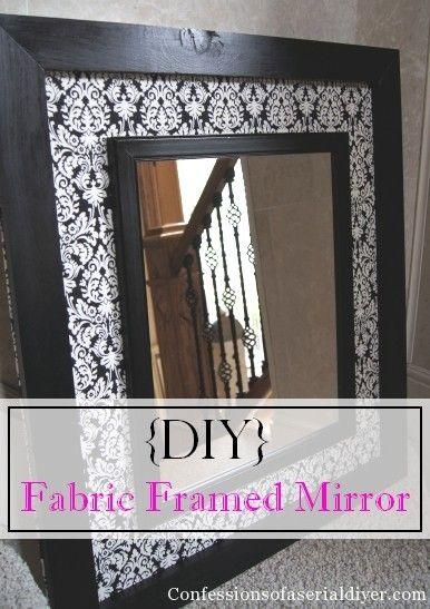 Diy Fabric Framed Mirror Mirror Frame Diy Diy Mirror Framed Fabric