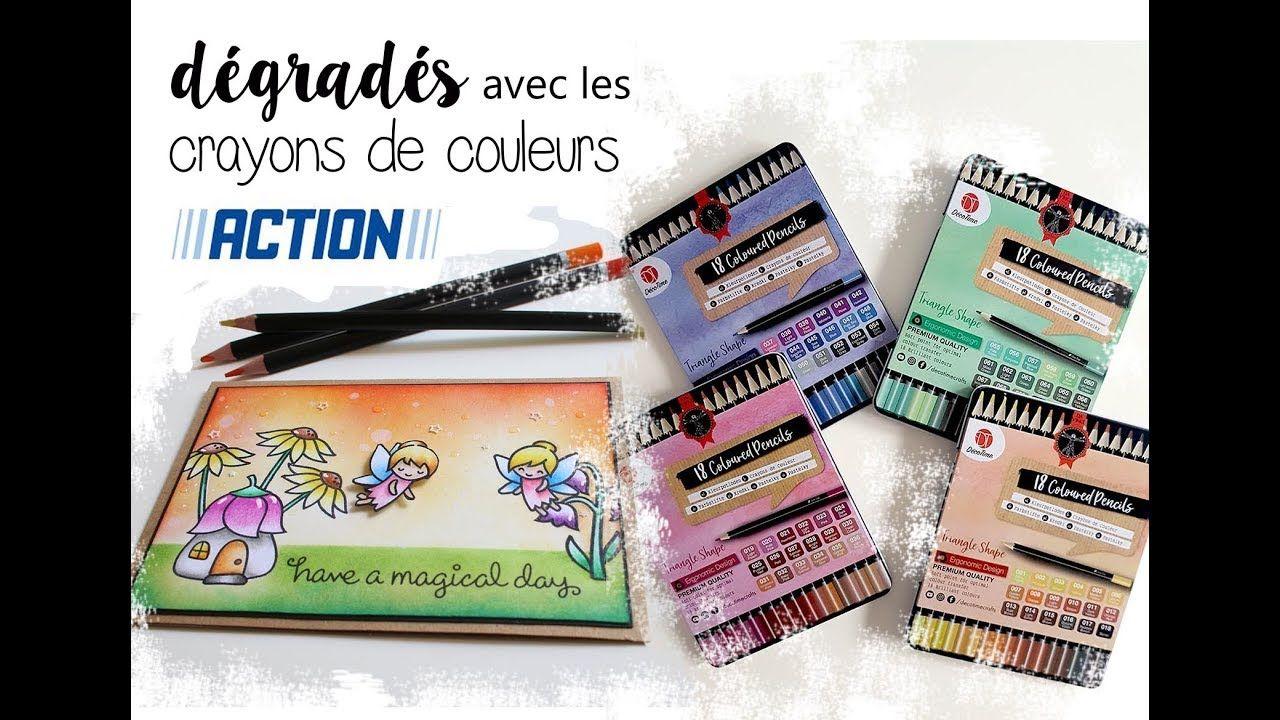 Degrades Faciles Crayons De Couleurs Action Techniques De
