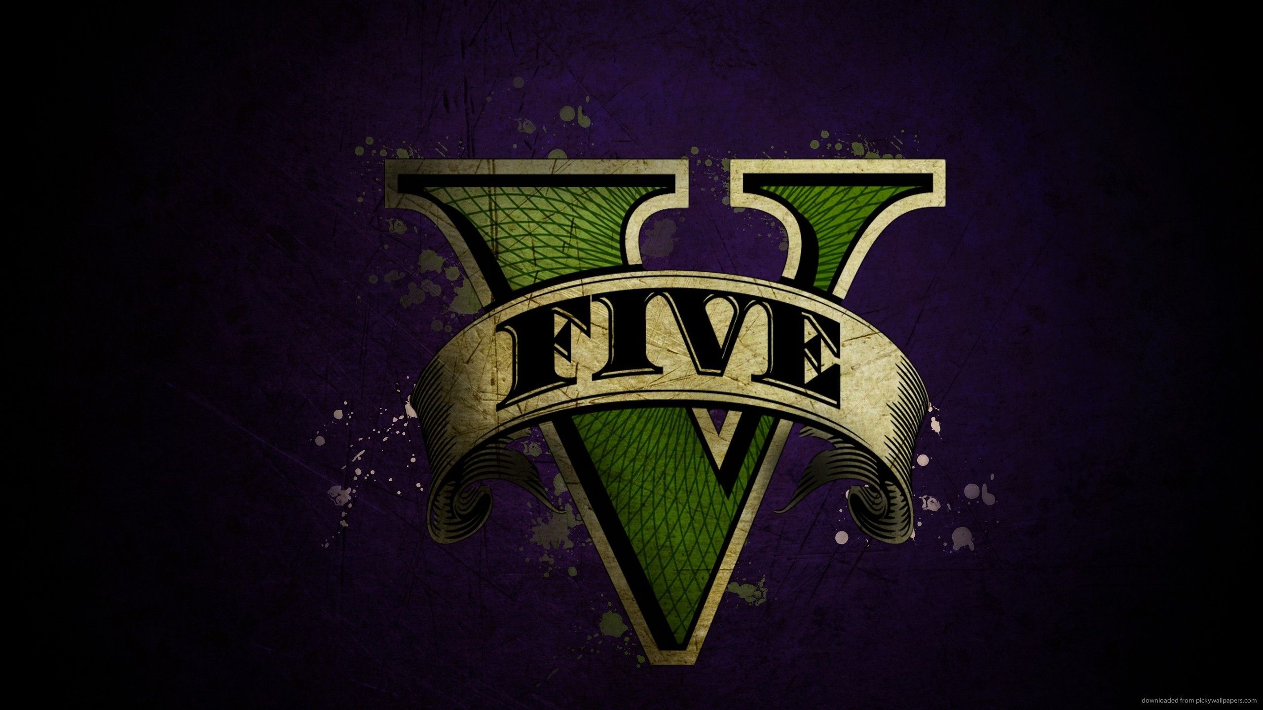 Gta 5 Logo Download 2560x1440 GTA 5 Logo Wallpaper