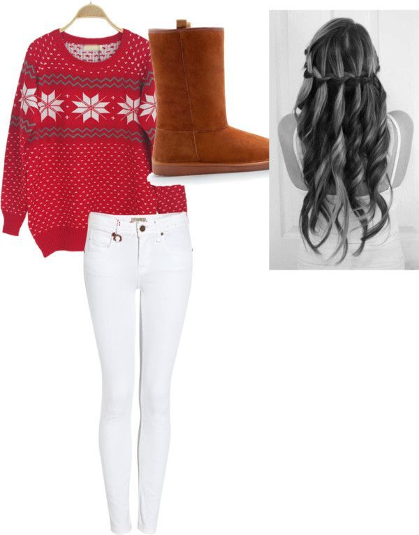 Christmas is closer and closer and nice outfits idea for our favorite  holiday of the year are always welcome. Red, green and gold are the colors  mostly ... - 6 Casual Christmas Outfit Ideas Clothes Winter Outfits, Outfits