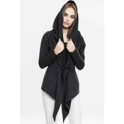 Urban Classics Damen Jacke Ladies Hooded Sweat Cardigantb1330 black Hooded Sweat S Urban ClassicsUrb