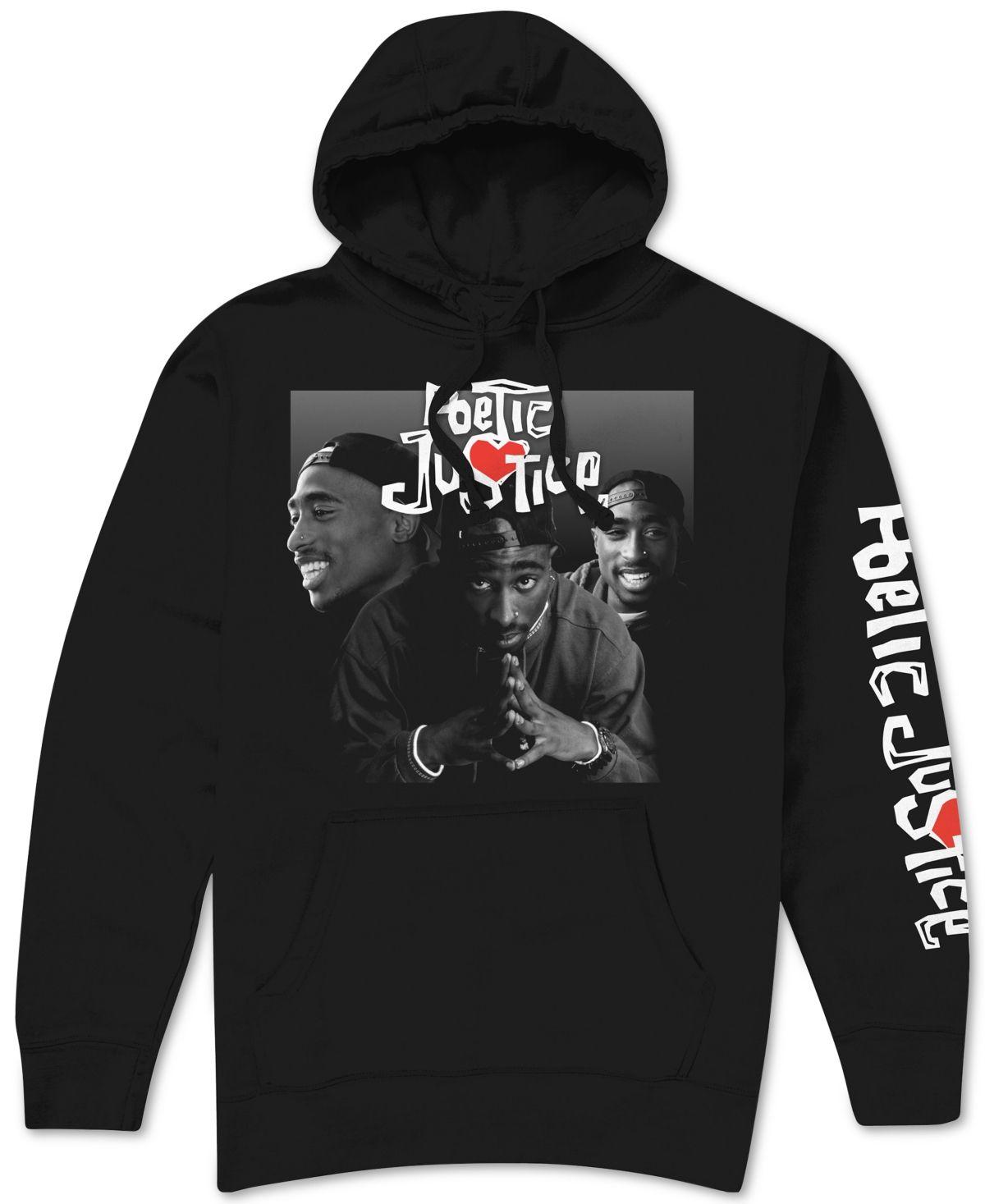 Poetic Justice Men S Hoodie Black Hoodies Men Hoodies Mens Sweatshirts