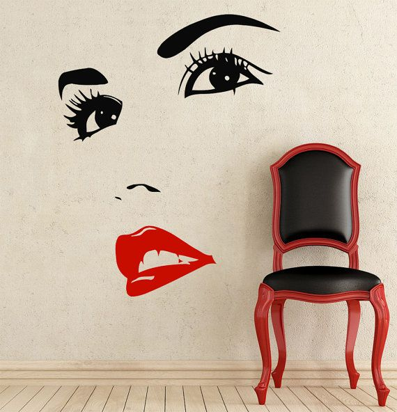 makeup wall decal vinyl sticker decals home decor design on wall stickers design id=91671