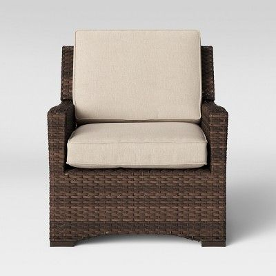 Halsted 4pc Wicker Patio Furniture Set Tan Threshold Wicker Patio Furniture Set Club Chairs Rocking Chair Porch
