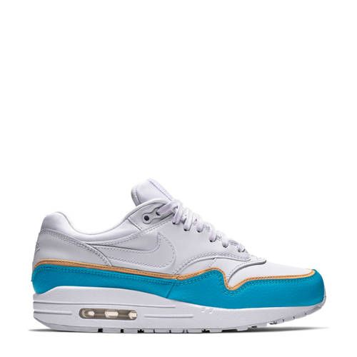 nike air max wit en blauw