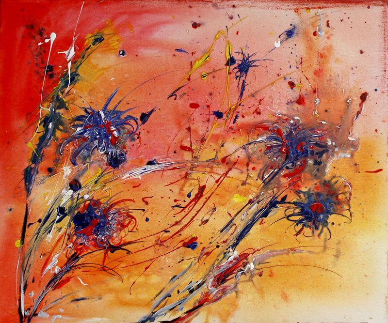 107 verkaufte abstrakte bilder kornblumensamen orange blau rot wandbilder original gemalde k kunst abstrakt acryl gemälde berge