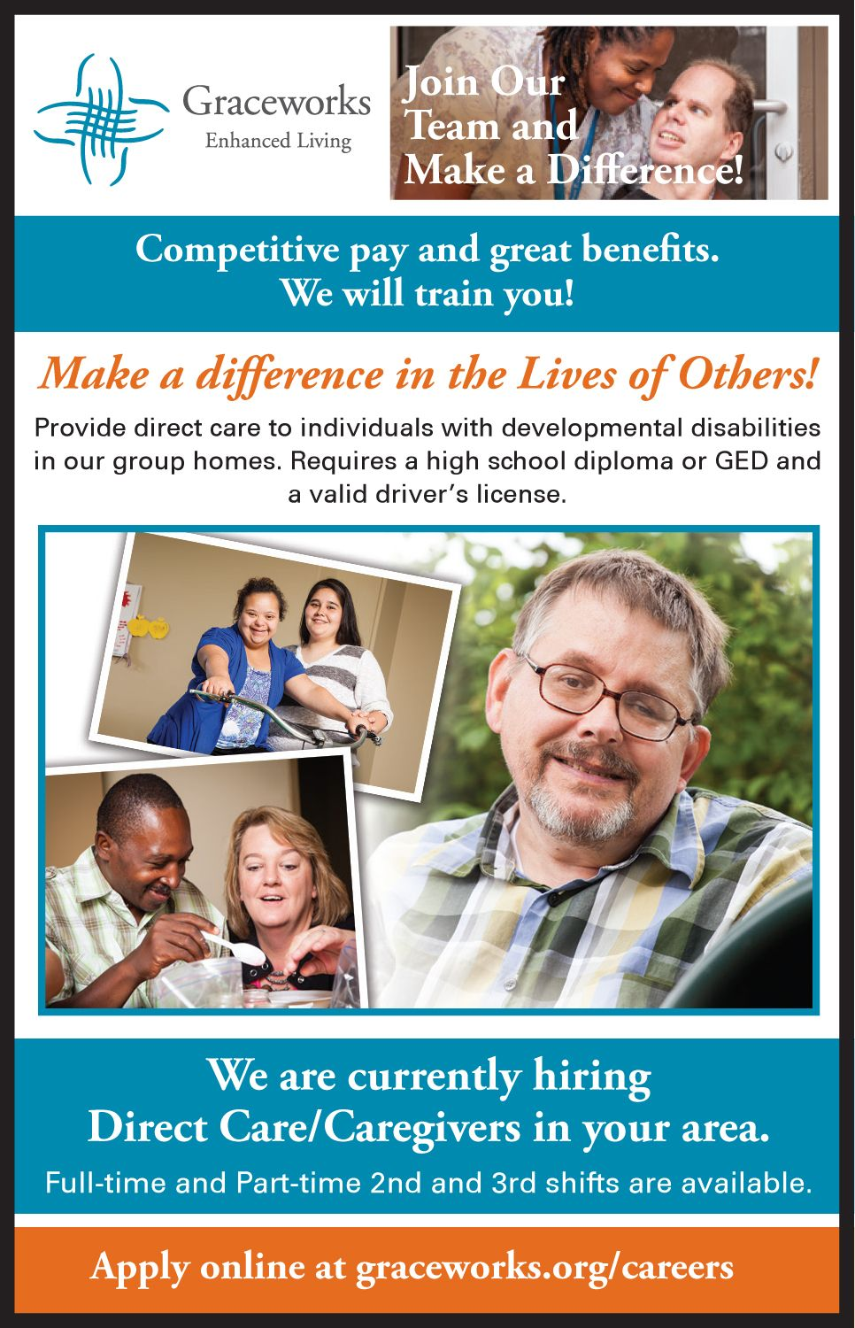 We're always looking for amazing caregivers. No experience
