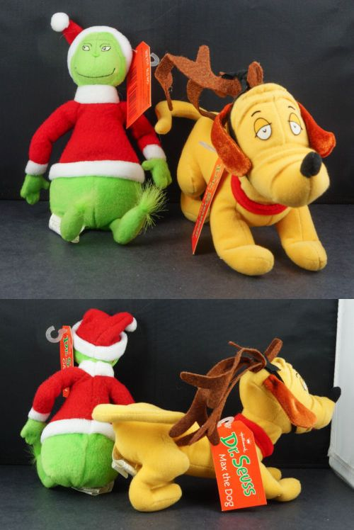 2d9f48bd Dr Seuss 20906: Hallmark Dr Seuss Grinch And Max Dog Plush Dolls With  Original Tags -> BUY IT NOW ONLY: $32.99 on eBay!