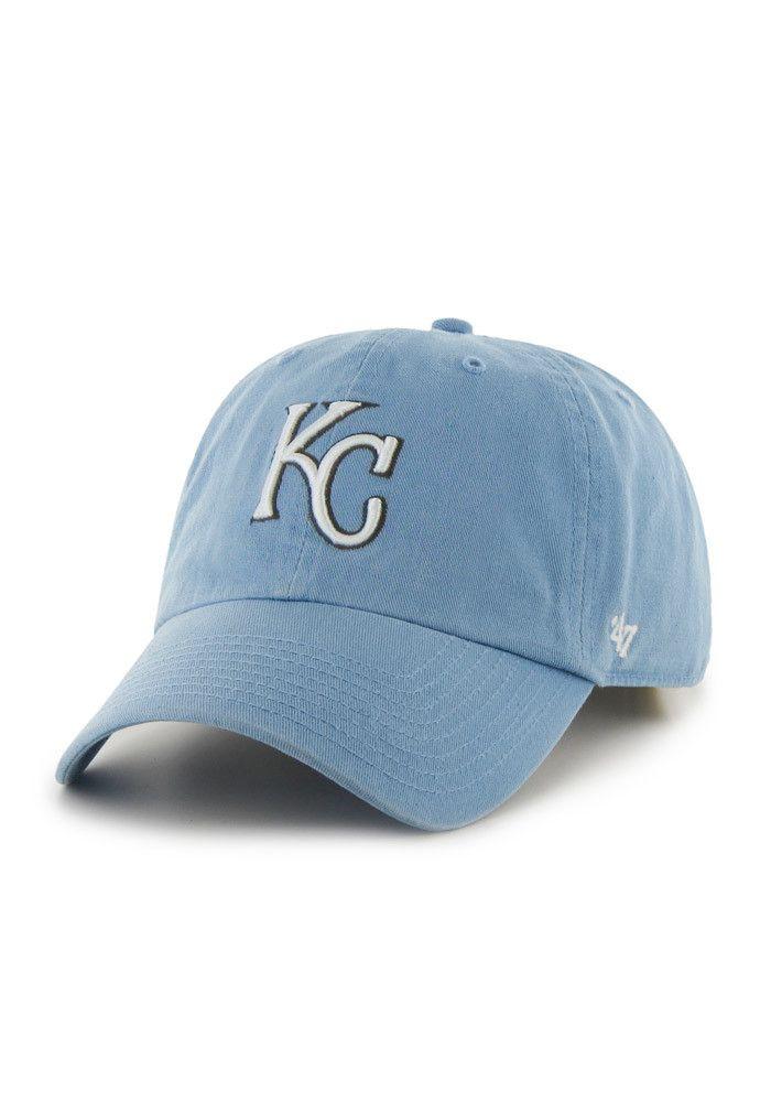 KC Royals Royals Mens Light Blue Clean Up Adjustable Hat  8cbca5cf204