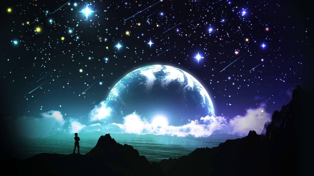 Ambient guitar rock beat Night sky wallpaper, Twilight