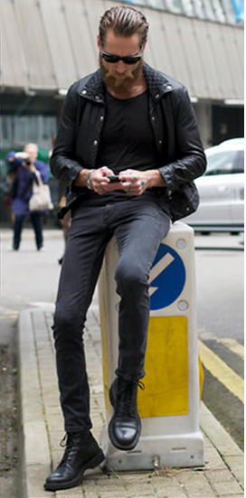 Texture Sophisticated Bad Boy Rocker Look Style Motherfucker Pinterest Man Style