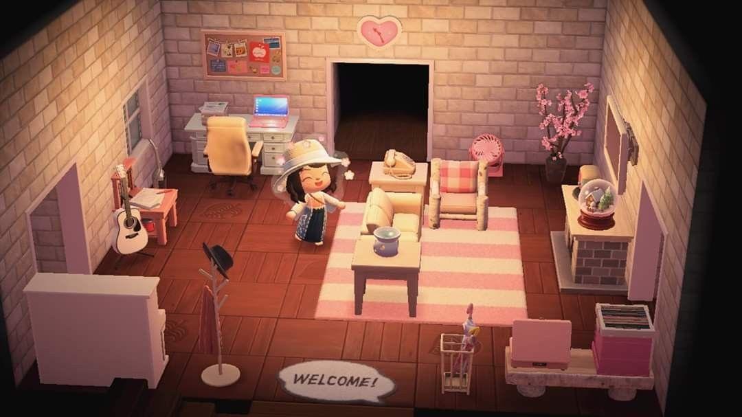 Livingroom in 2020   Cute living room, Animal crossing ... on Animal Crossing Living Room Ideas  id=21150