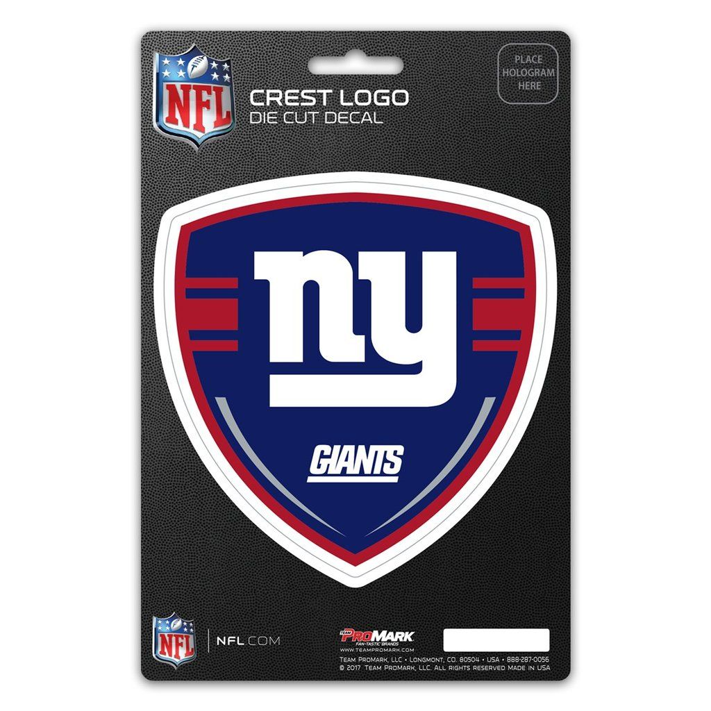New York Giants Decal Shield Design Crest logo, Shield