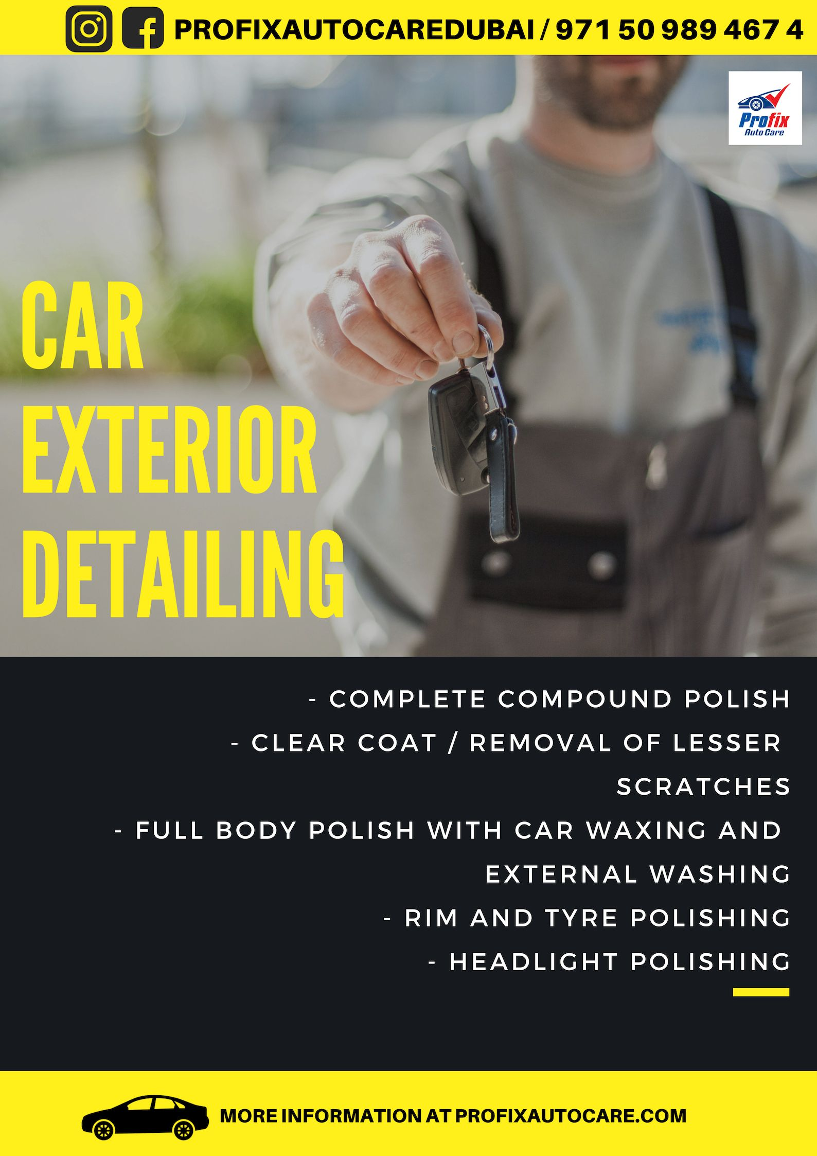 UAE BEST CAR GARAGE: Get an awesome exterior detailing and ...
