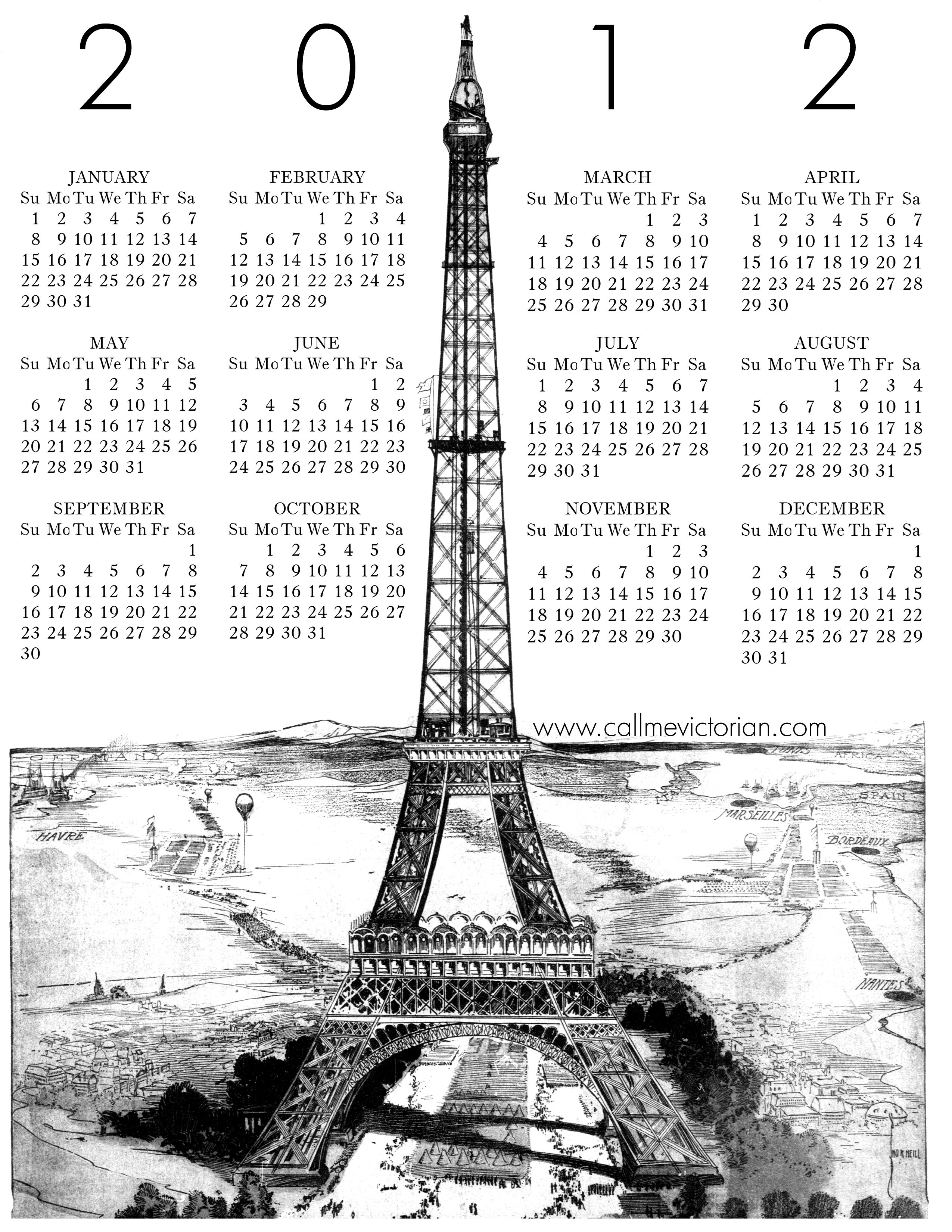 Vintage Calendars My Crafty Side Pinterest 2012 Calendar